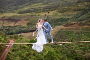 La Vallee Des Couleurs Nature Park Restaurant Wedding Photo