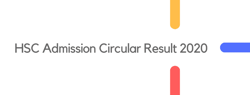 HSC Admission Circular Result 2020