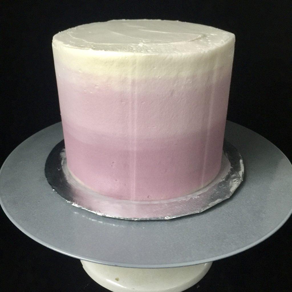 Ombré buttercream cake