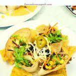 墨西哥煎玉米卷沙拉碗