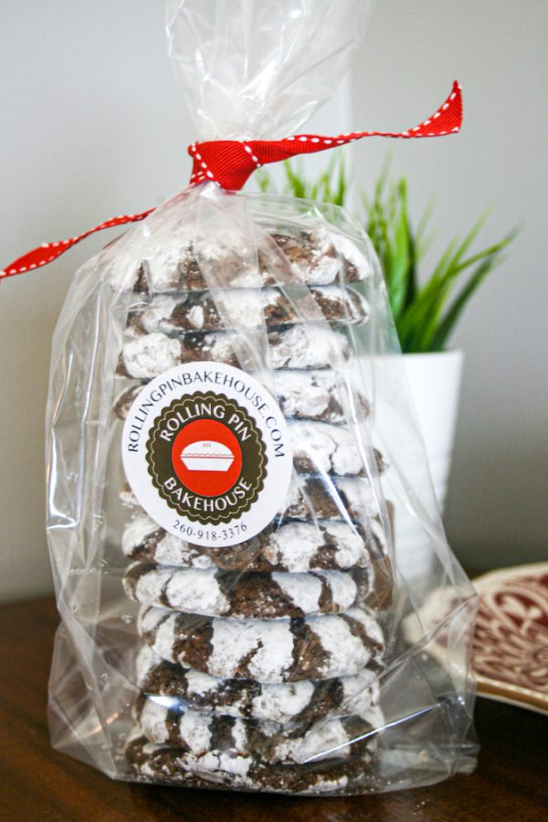 Chocolate Crinkle Cookies in Packaging