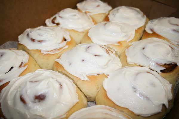 A Dozen Cinnamon Rolls in Box