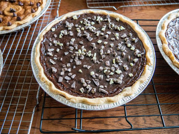 Mint Chocolate Cream Pie on Cooling Rack