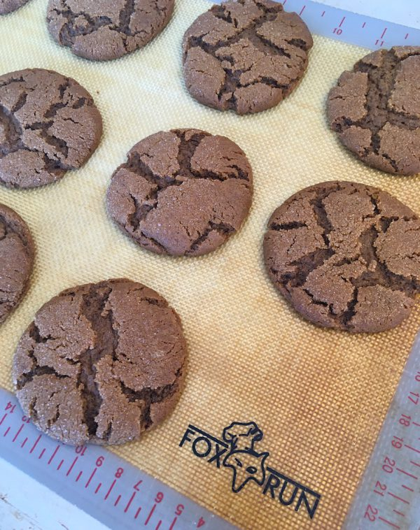 Molasses Cookies on Fox Run Baking Mat