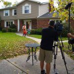 Outside with the PBS tv film crew