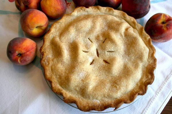 Peach Pie with Peaches