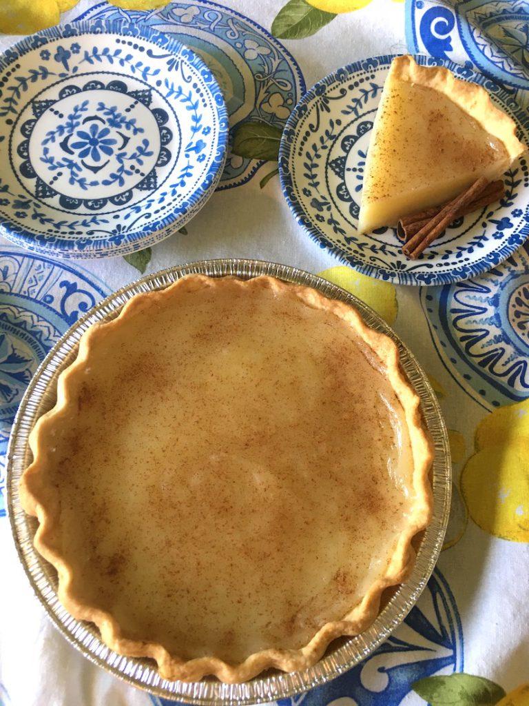 Sugar Cream Pie and Slice