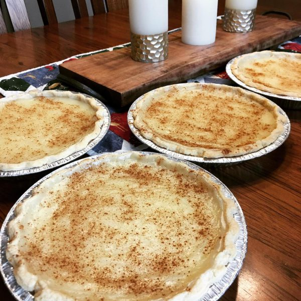 Sugar Cream Pies on Table