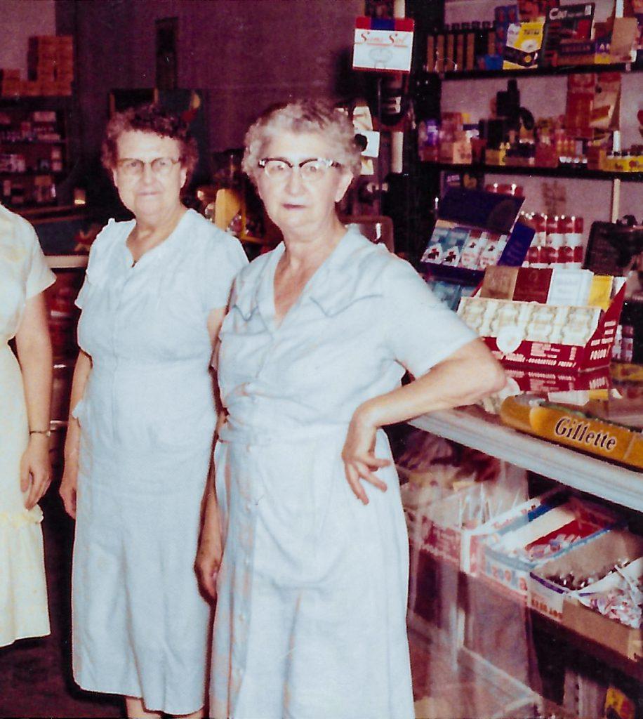 Great-Grandma Gradeless at shop counter