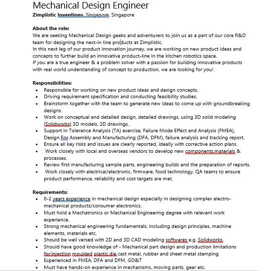 Mechanical Design Engineer