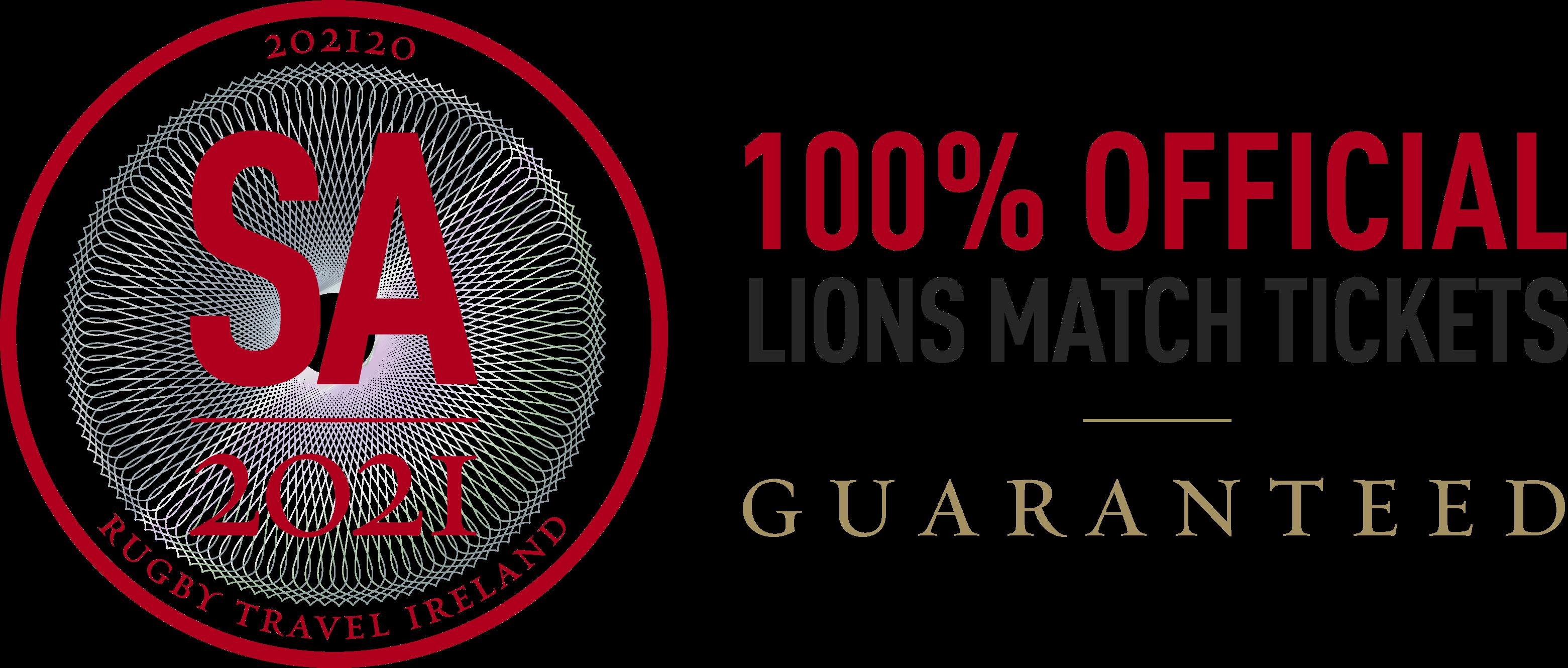 Official British & Irish Lions Tour Match Ticket Guarantee