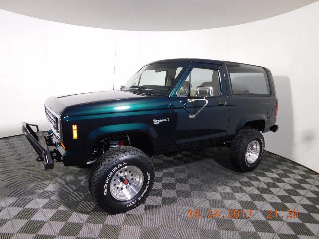restored 1988 Ford Bronco II XLT offroad