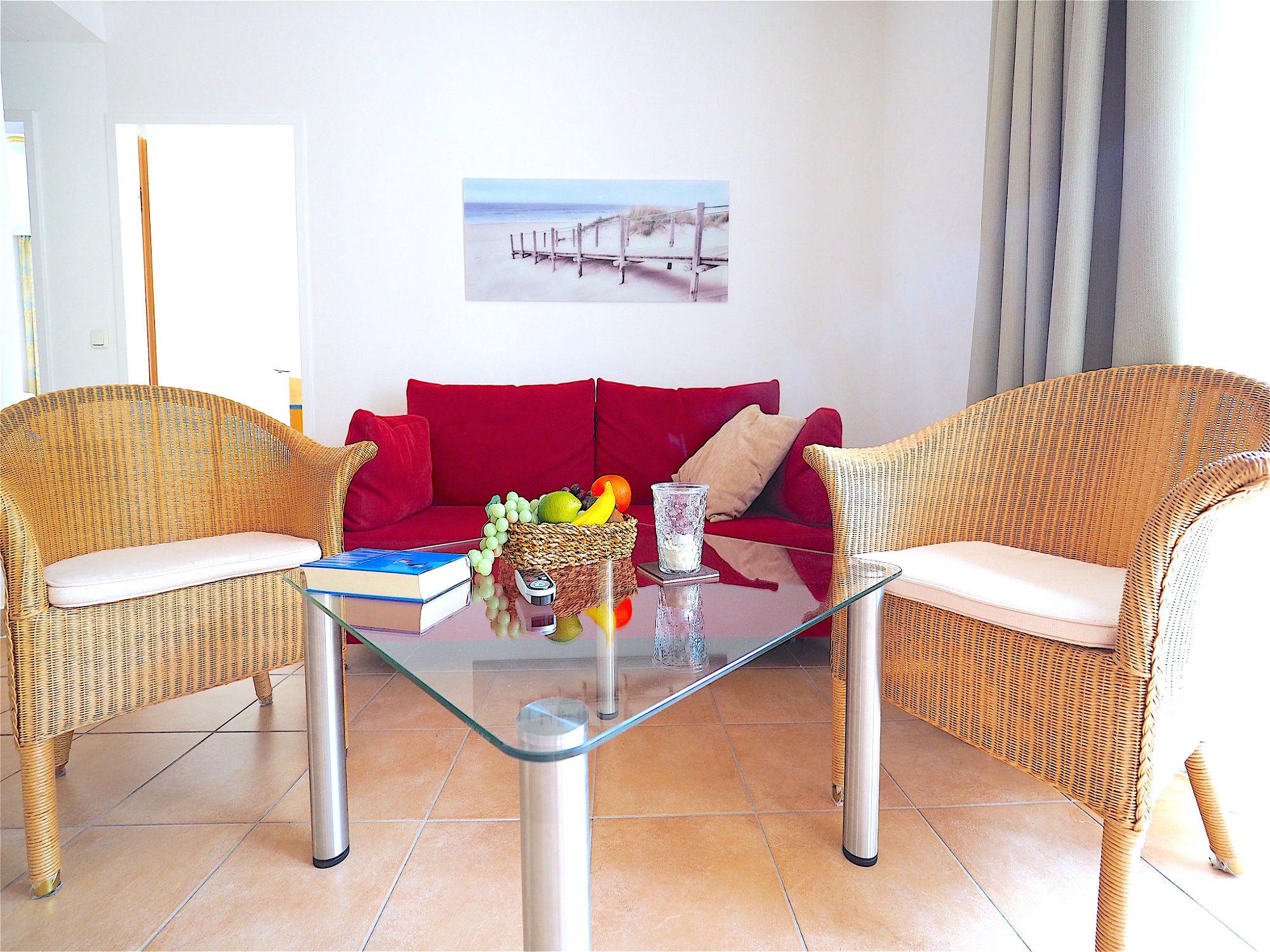 Innenaustattung von der Ferienwohnung Strandpalais Ferienwohnung 23 im Ostseebad Boltenhagen