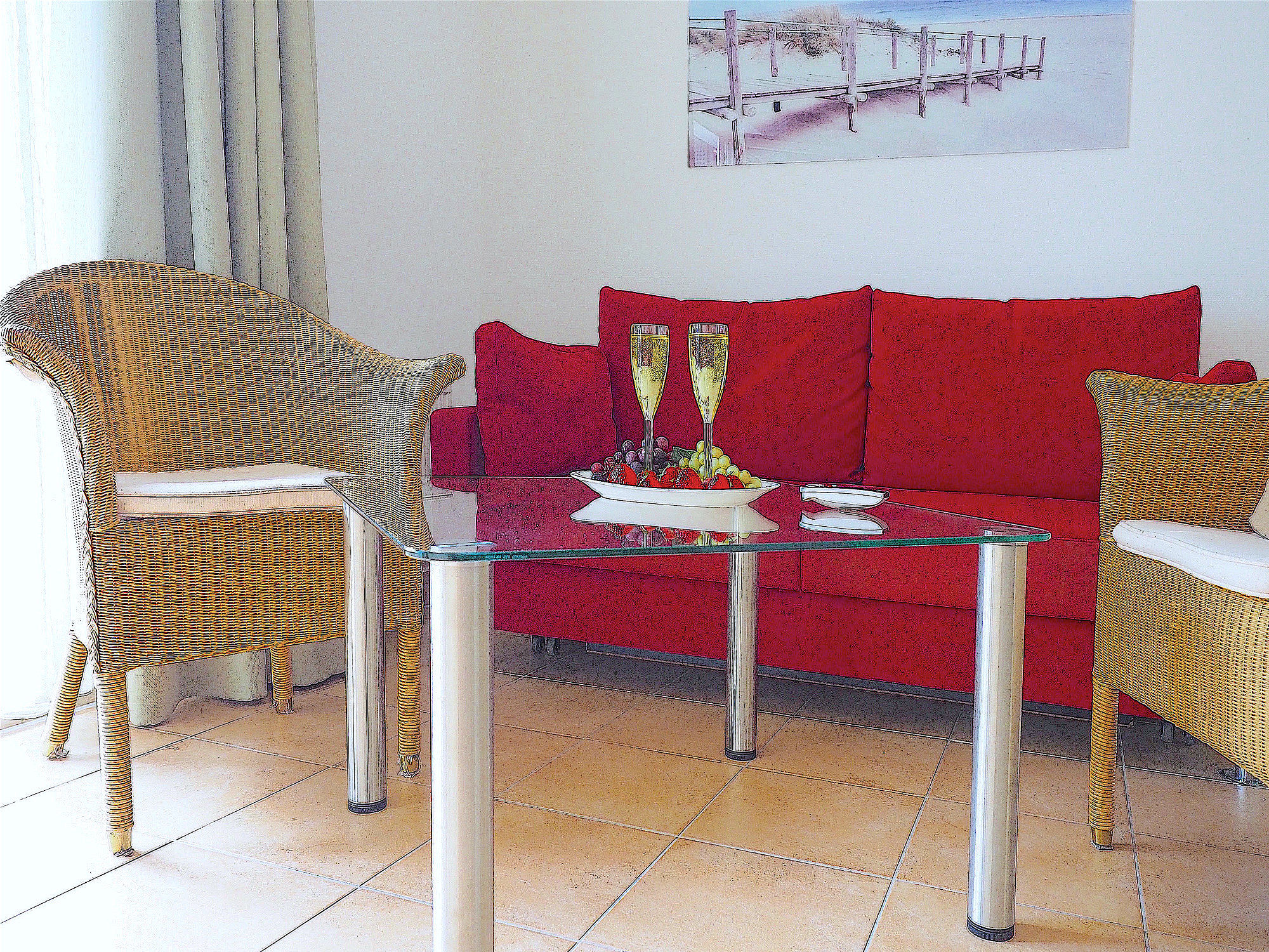 Innenaustattung von der Ferienwohnung Strandpalais Ferienwohnung 26 im Ostseebad Boltenhagen