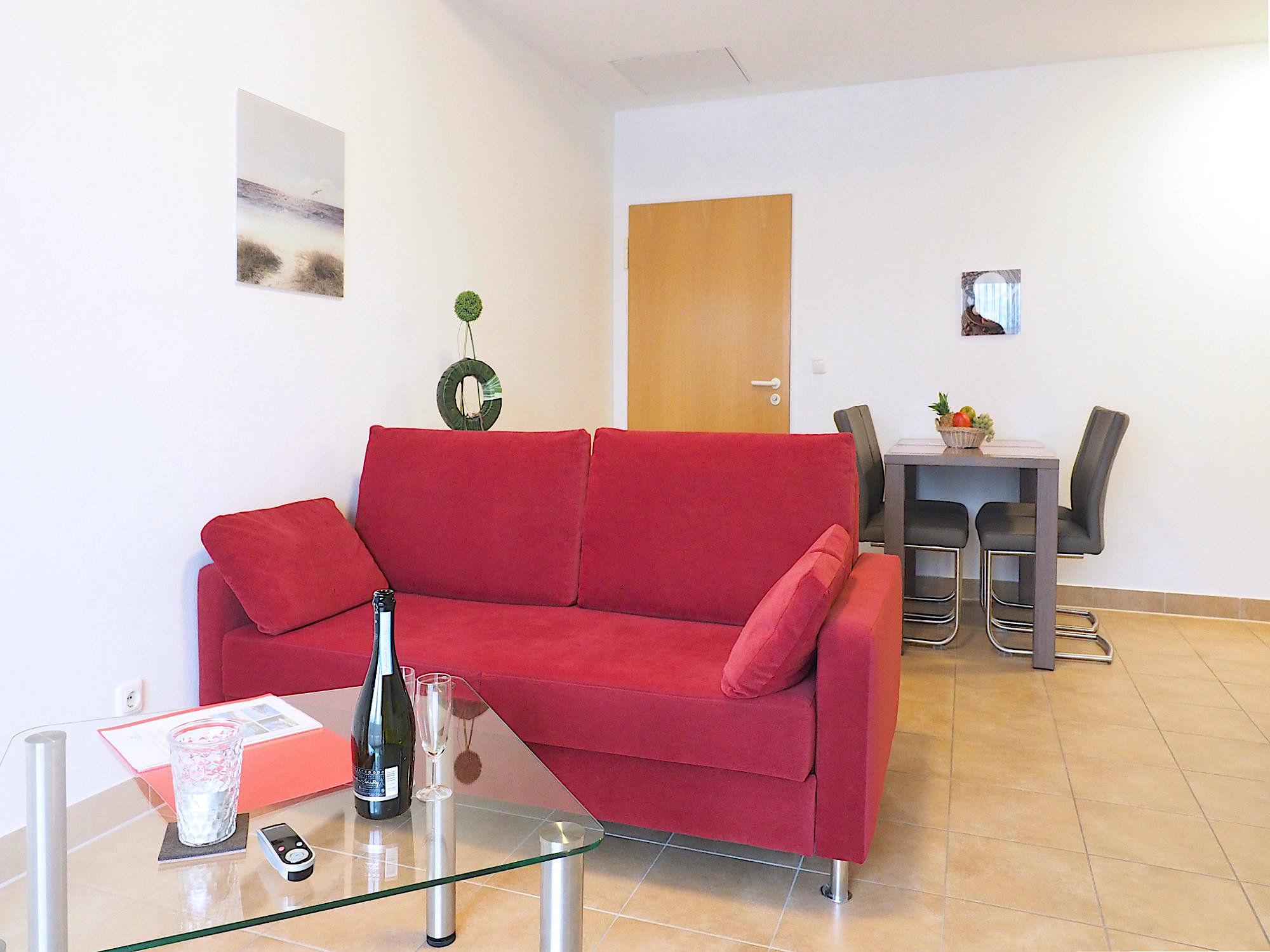 Innenaustattung von der Ferienwohnung Strandpalais Ferienwohnung 35 im Ostseebad Boltenhagen