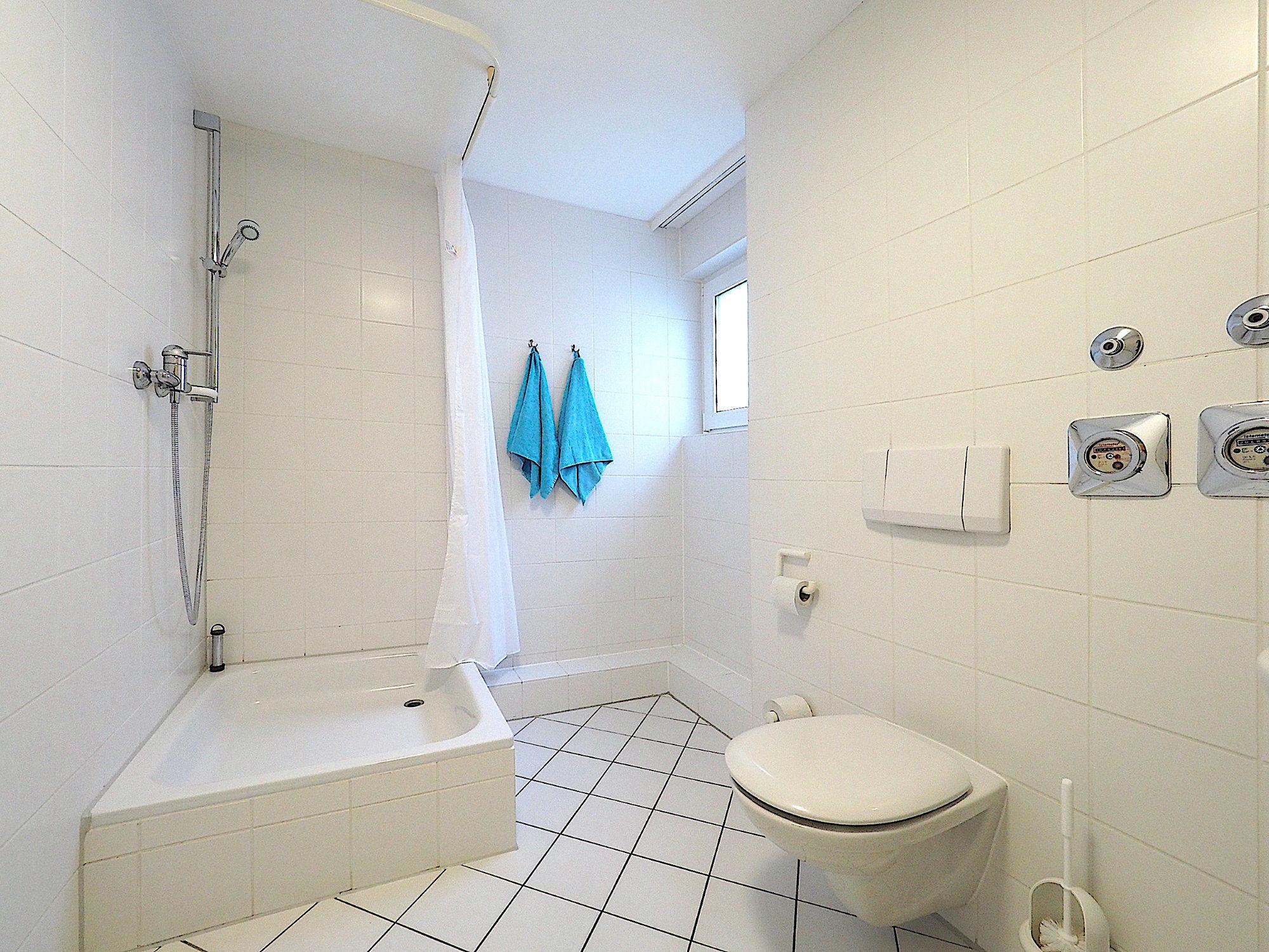 Duschbad mit Dusche, Fenster und WC