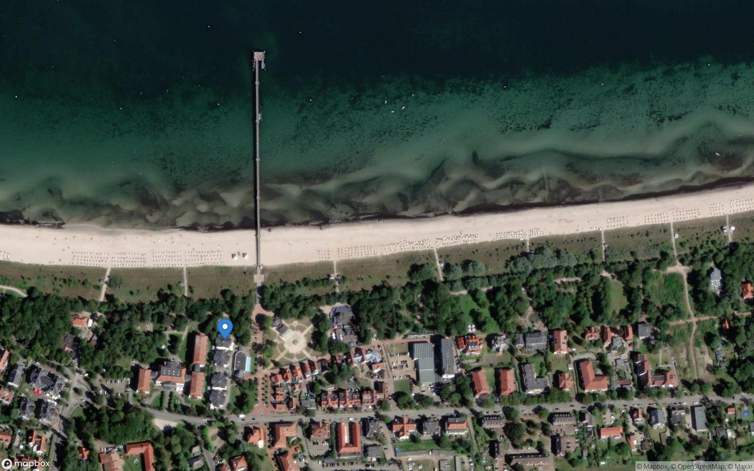 Satelliten Kartenansicht von Strandpalais Ferienwohnung 18 im Ostseebad Boltenhagen