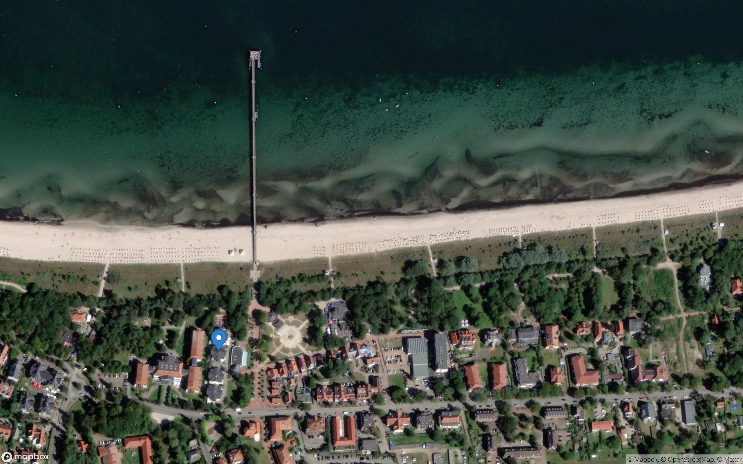 Satelliten Kartenansicht von Strandpalais Ferienwohnung 28 im Ostseebad Boltenhagen