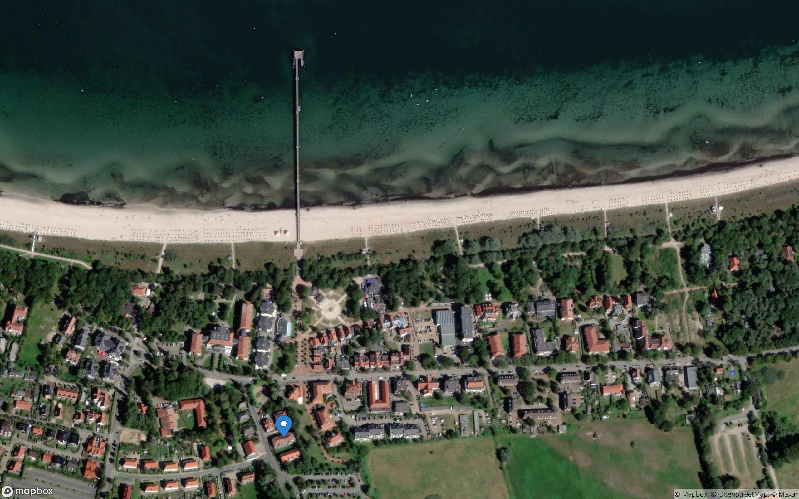 Satelliten Kartenansicht von Residenz am Park Ferienwohnung 14 im Ostseebad Boltenhagen