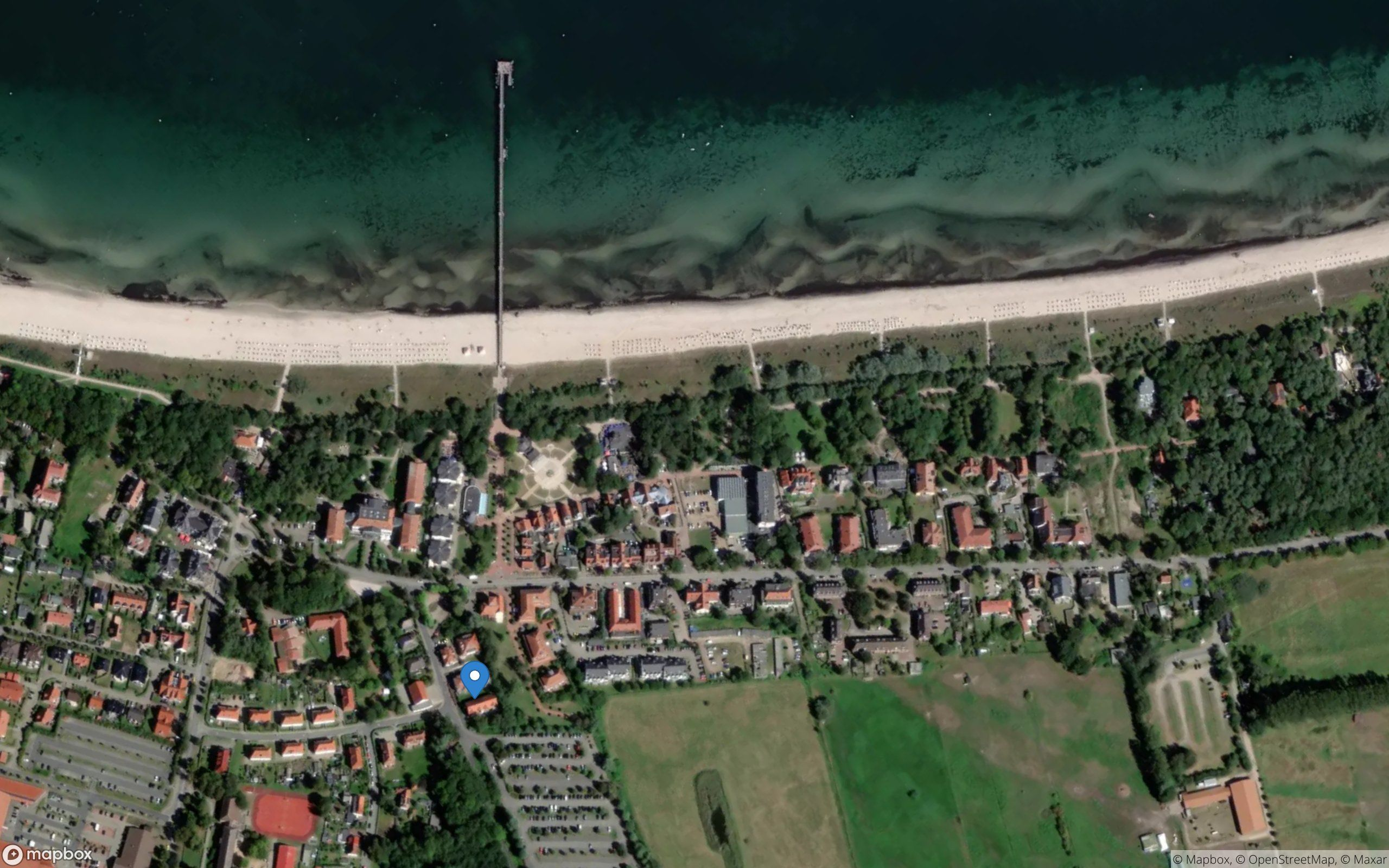 Satelliten Kartenansicht von Weidenblick Ferienwohnung 01 im Ostseebad Boltenhagen