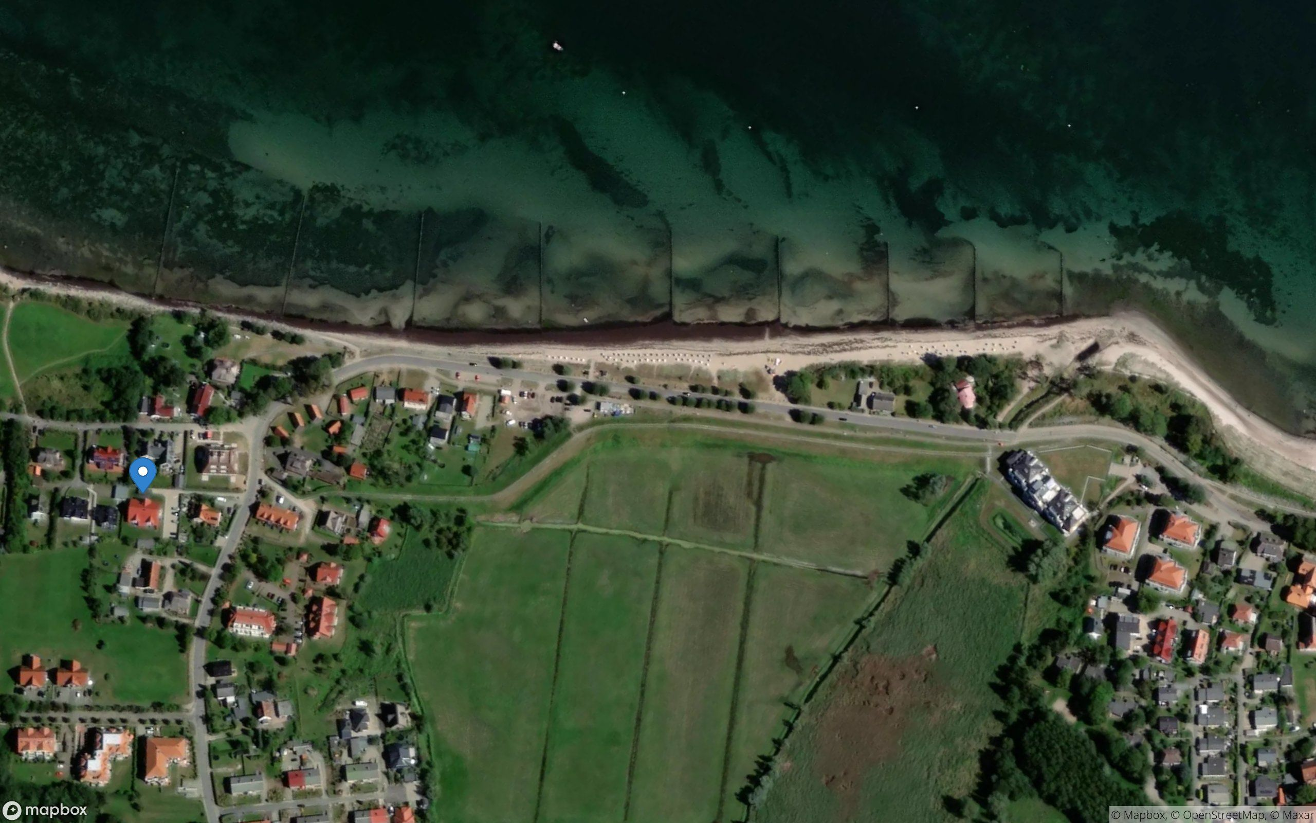 Satelliten Kartenansicht von Meeresbrise Ferienwohnung 08 im Ostseebad Boltenhagen