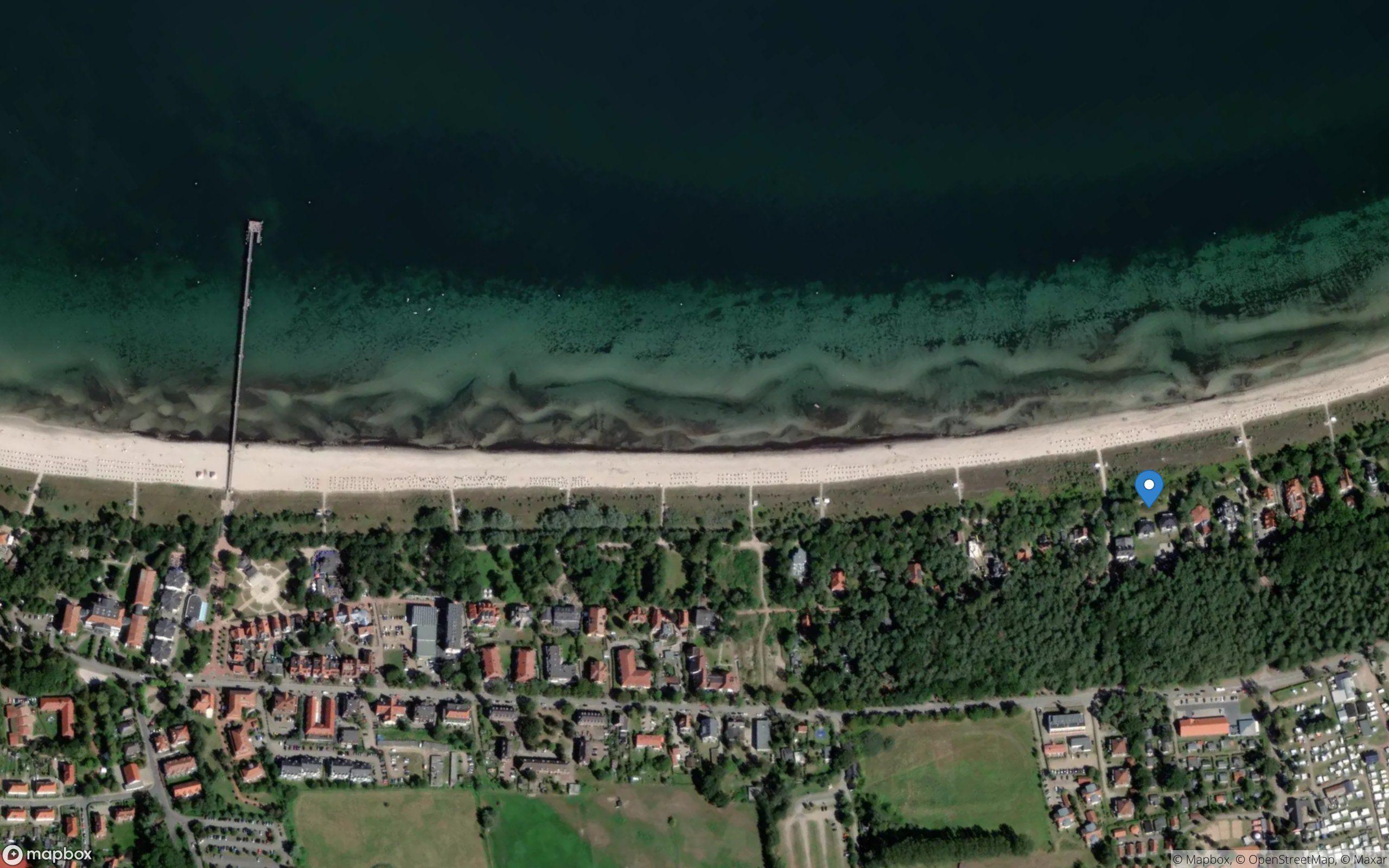 Satelliten Kartenansicht von Villa Belvedere Ferienwohnung 02 im Ostseebad Boltenhagen