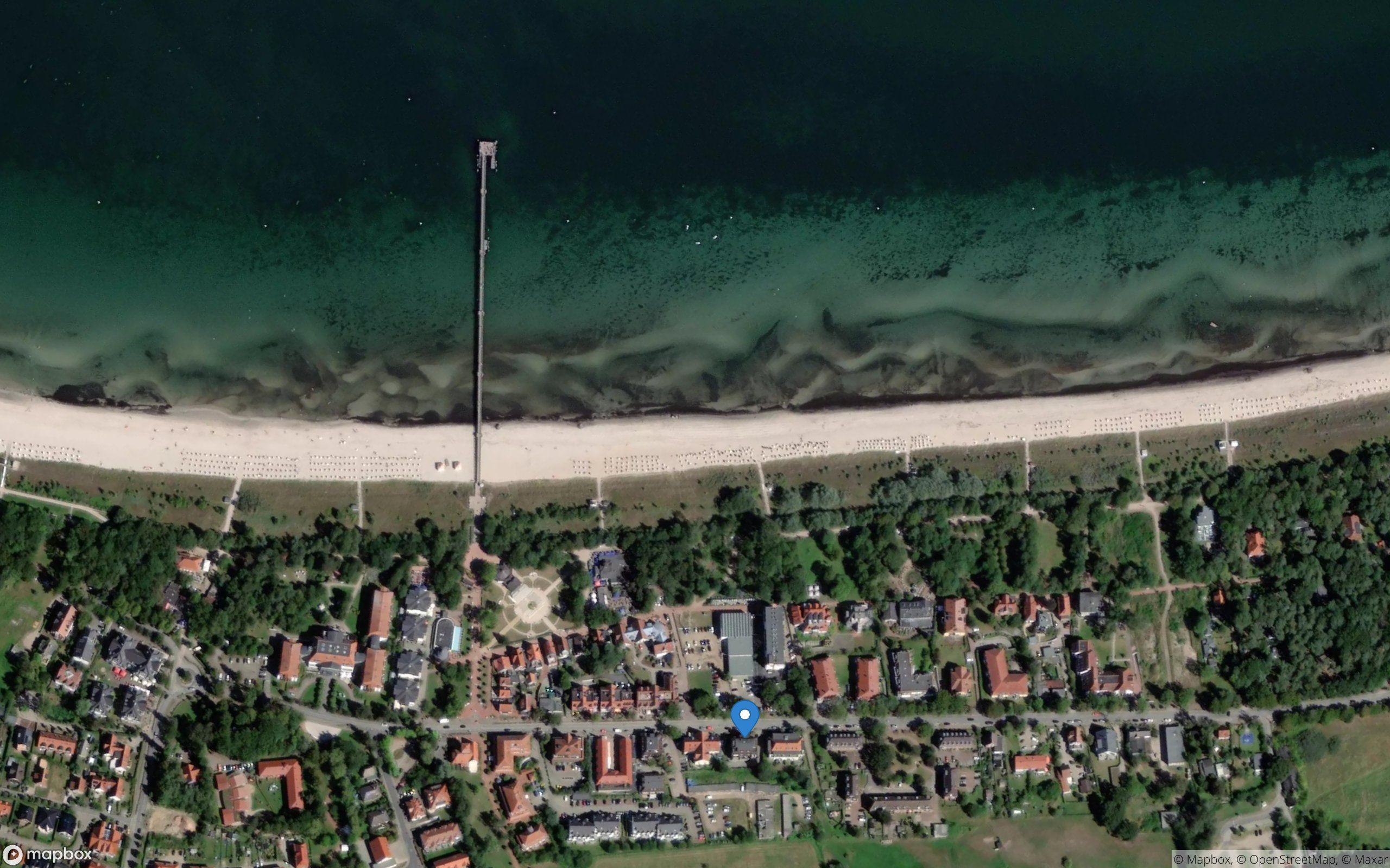 Satelliten Kartenansicht von Ferienwohnung Ostseeallee 18 im Ostseebad Boltenhagen