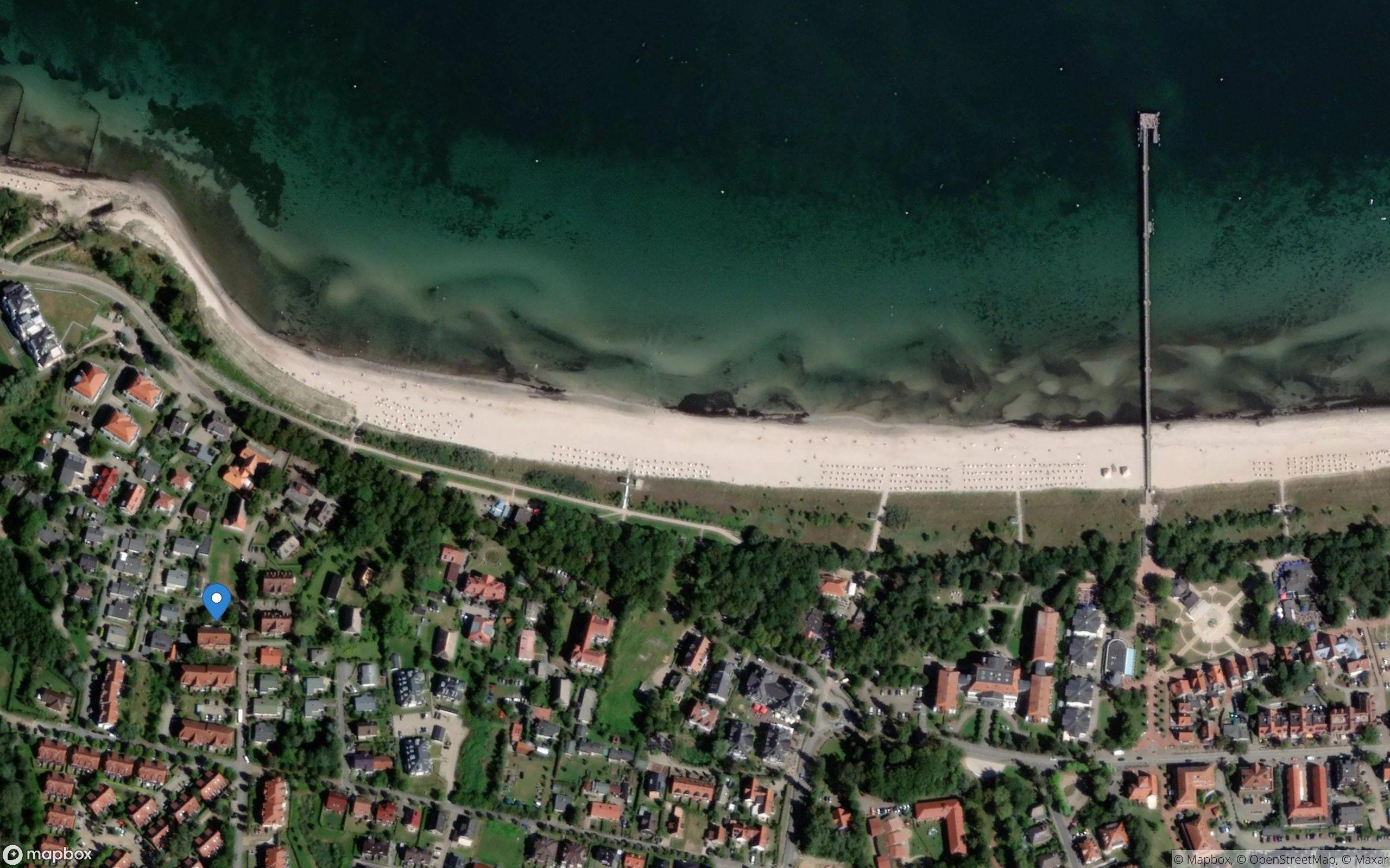 Satelliten Kartenansicht von Ferienwohnung Kati - FR/08 im Ostseebad Boltenhagen