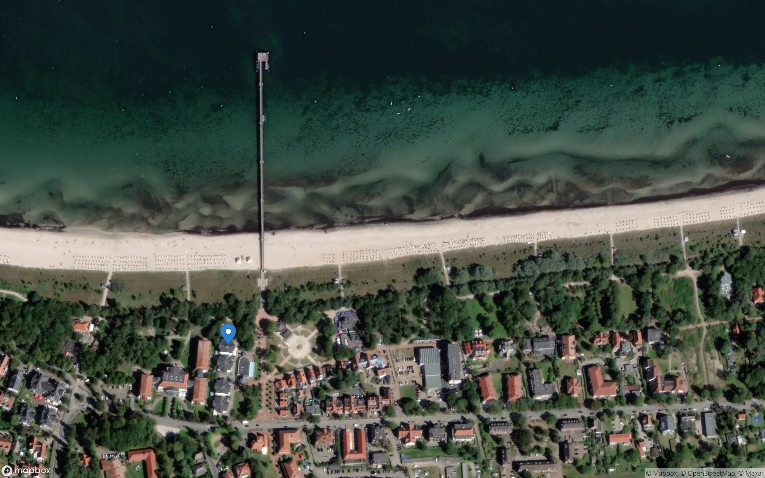 Satelliten Kartenansicht von Strandpalais Ferienwohnung 14 im Ostseebad Boltenhagen