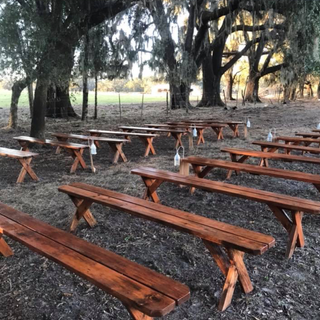 12x8 stained and poly benches