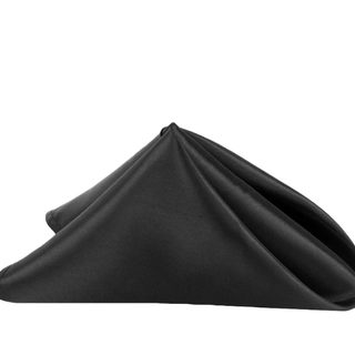 20x20 black satin napkins
