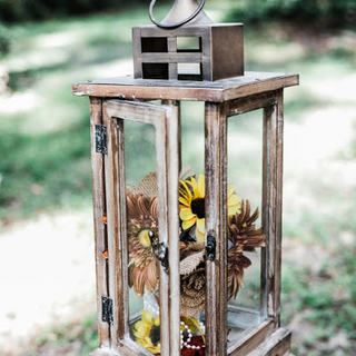 All wood and glass lanterns