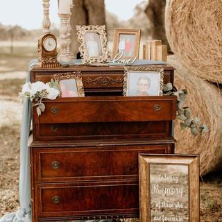 brown vintage dresser