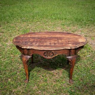 dark wood rustic coffee table