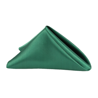 20x20 Emerald green satin napkins
