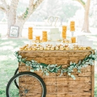 all wood cart with bicycle tires
