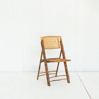 Bamboo Rattan Folding Chair