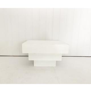 Mid Mod Three Tier White Coffee Table