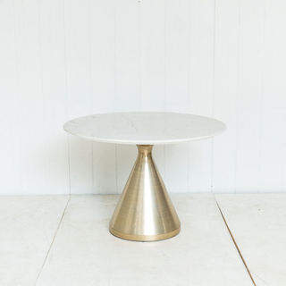 Modern Marble Top Table With Gold Base