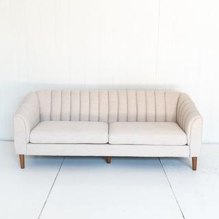 Channelback Cream Sofa