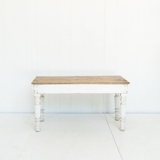 Patina Farmhouse Style Table With White Wash Legs