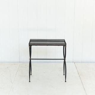 Black Mirrored Rectangluar Side Table