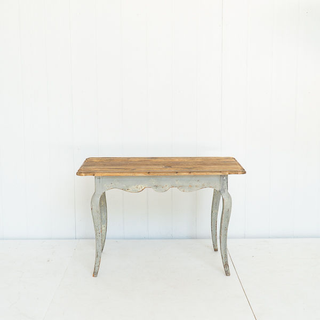 Light Wood and Distressed Grey Vintage Table