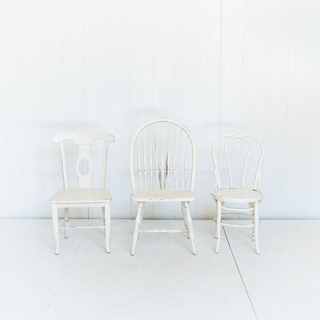 White Painted Unique Style Chair