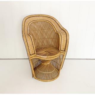 Light Wicker Small Peacock Chair