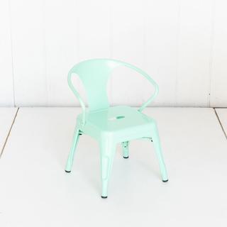 Mint Metal Kid Size Tolex Chairs