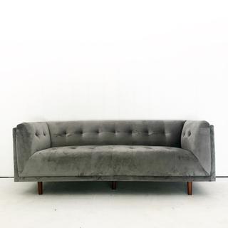 Blue Grey Tufted Sofa