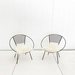 Black Iron Vintage Circular Chairs