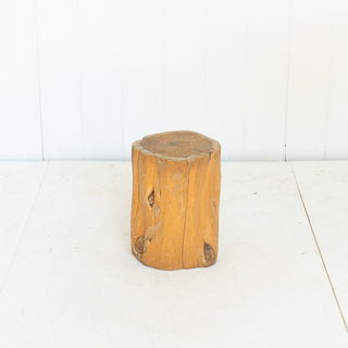 Wood Tree Stump Side Table
