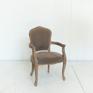 Taupe Velvet French Style Chair